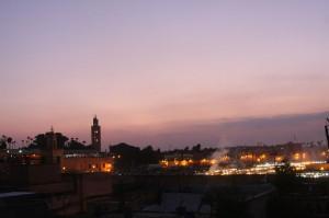 Djeema el Fna depuis la terrasse